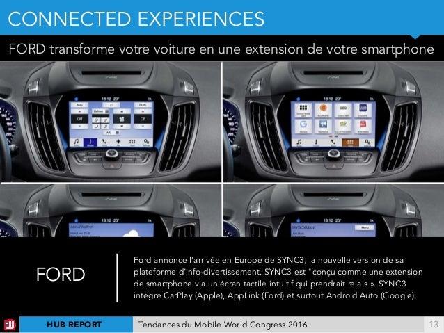 !13 FORD transforme votre voiture en une extension de votre smartphone FORD Ford annonce l'arrivée en Europe de SYNC3, la ...