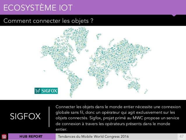 01 Comment connecter les objets ? ECOSYSTÈME IOT !47 SIGFOX Connecter les objets dans le monde entier nécessite une connex...