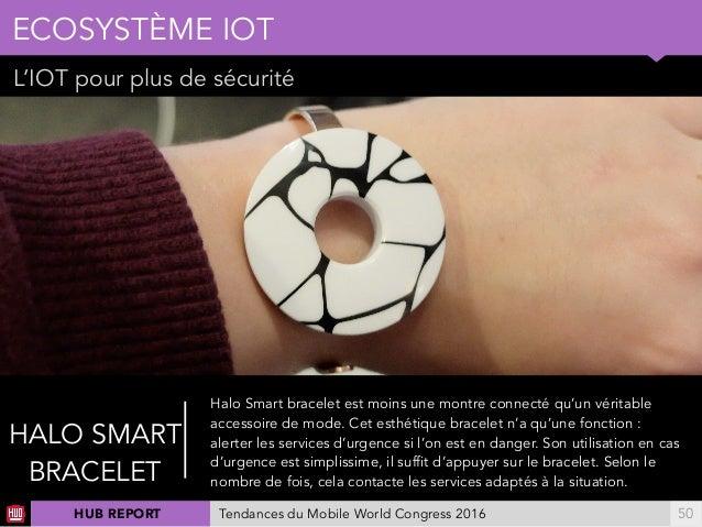 01 L'IOT pour plus de sécurité ECOSYSTÈME IOT !50 HALO SMART BRACELET Halo Smart bracelet est moins une montre connecté qu...