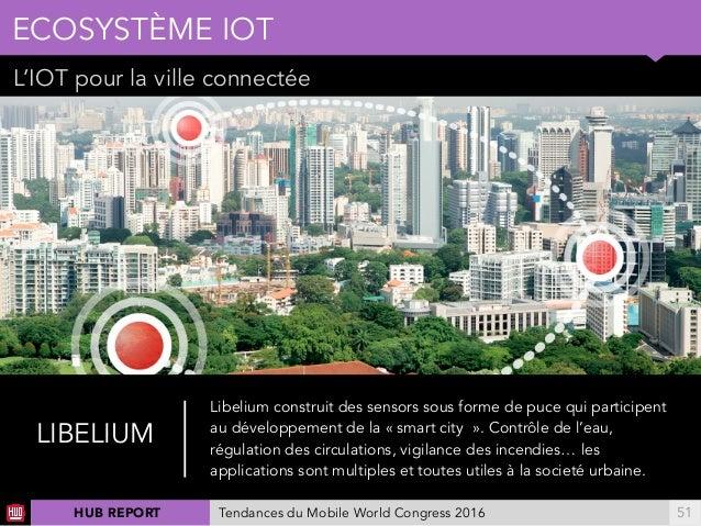 01 L'IOT pour la ville connectée ECOSYSTÈME IOT !51 LIBELIUM Libelium construit des sensors sous forme de puce qui partici...