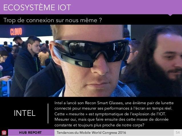 01 Trop de connexion sur nous même ? ECOSYSTÈME IOT !54 INTEL Intel a lancé son Recon Smart Glasses, une énième pair de lu...