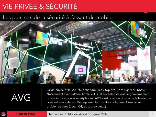 01 Les pionners de la sécurité à l'assaut du mobile VIE PRIVÉE & SÉCURITÉ !58HUB REPORT Tendances du Mobile World Congress...