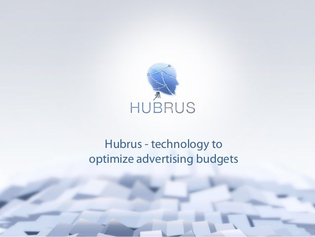 Hubrus - technology tooptimize advertising budgets