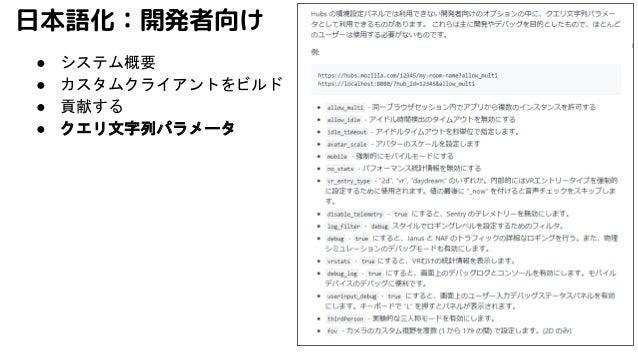 日本語化:開発者向け ● システム概要 ● カスタムクライアントをビルド ● 貢献する ● クエリ文字列パラメータ
