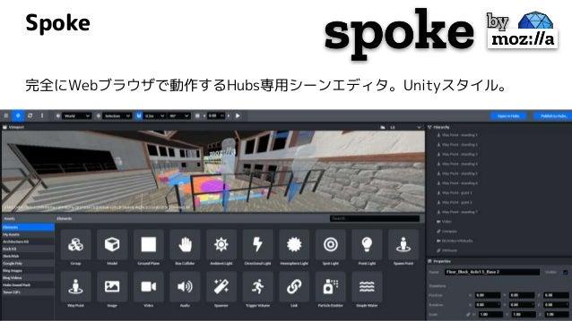 Spoke 完全にWebブラウザで動作するHubs専用シーンエディタ。Unityスタイル。