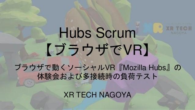 Mozilla Hubsが拓く新世代WebVRのススメ #HubsScrum