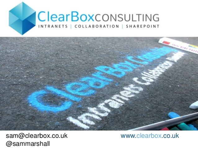 sam@clearbox.co.uk www.clearbox.co.uk @sammarshall