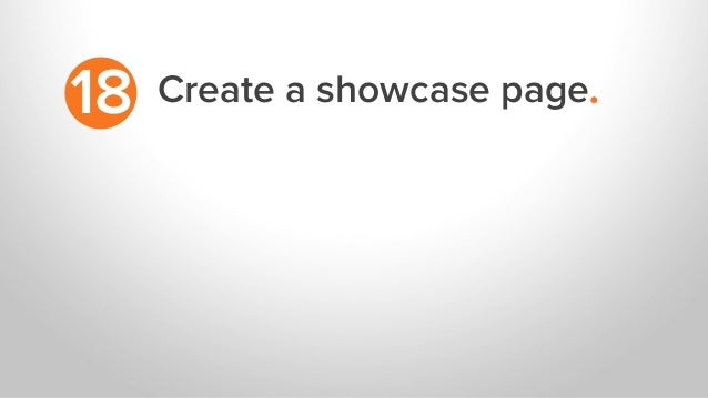Create a showcase page.18