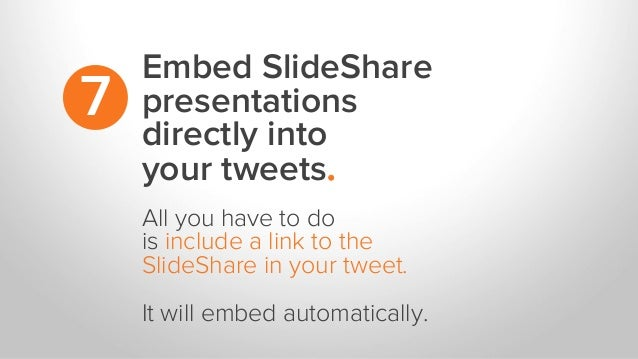 Embed SlideShare presentations directly into