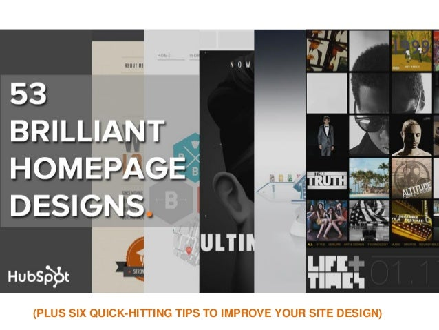 (PLUS SIX QUICK-HITTING TIPS TO IMPROVE YOUR SITE DESIGN)