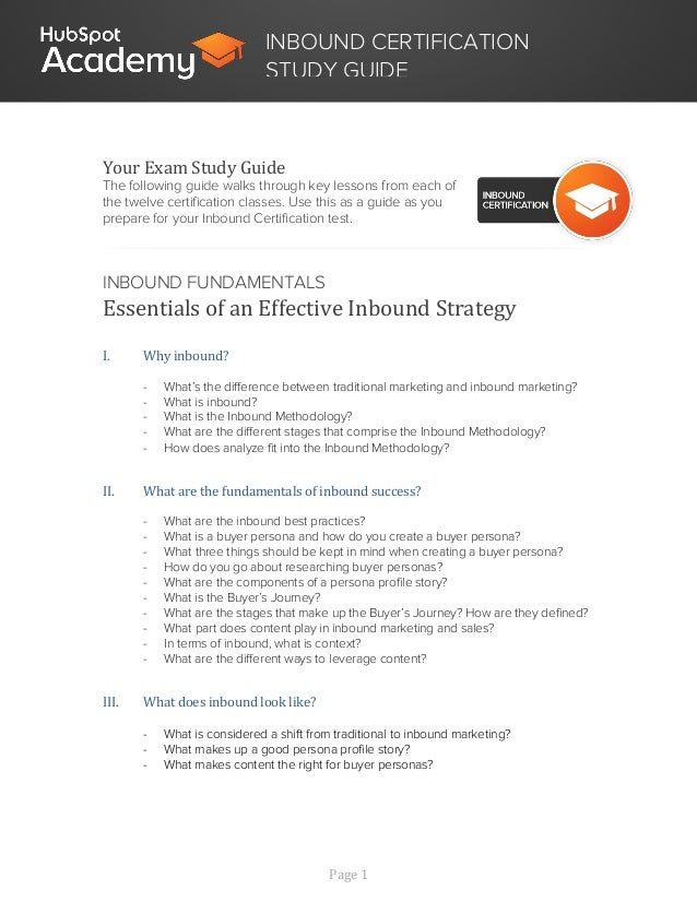 Hubspot Academy Inbound Course Videos Transcripts