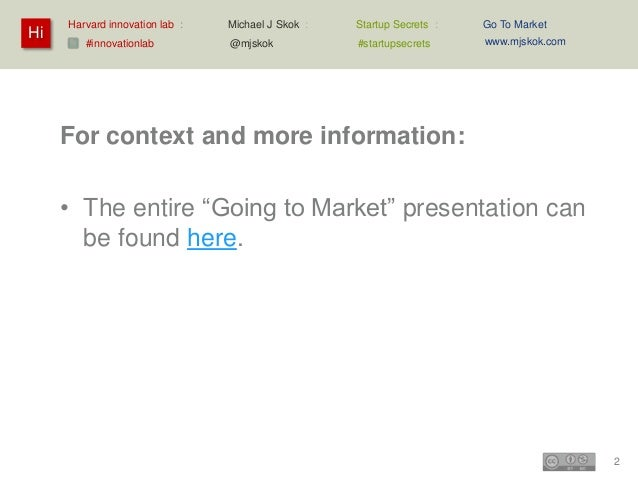 Going to Market – Case – HubSpot: Inbound Marketing Slide 2