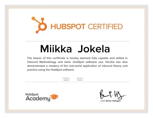 hubspot certification slideshare upcoming