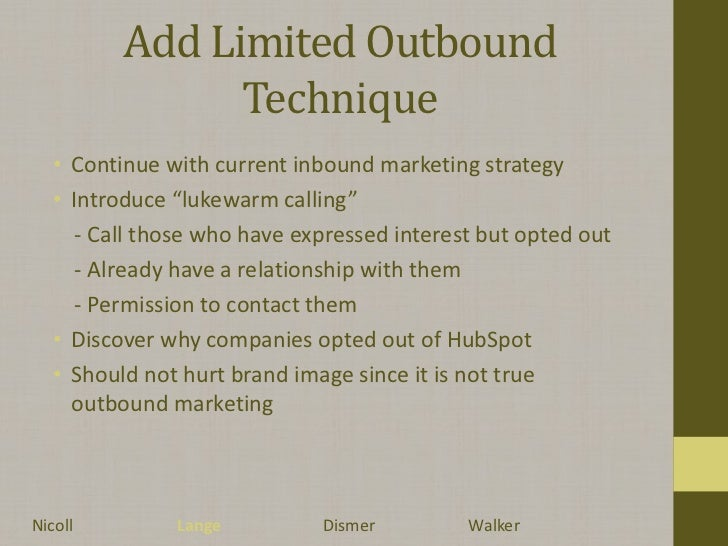 hubspot case Hubspot invented the term inbound marketing, and has lived it's mantra, driving their business from an idea in 2004 to a $50m+ run rate in 2012 in the.