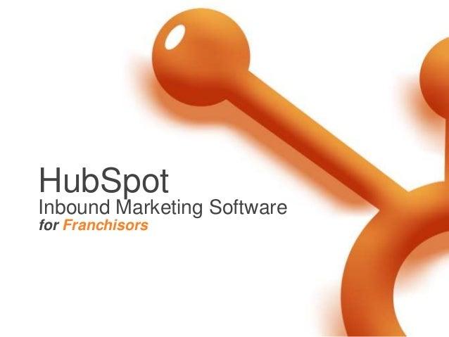 HubSpot Inbound Marketing Software for Franchisors
