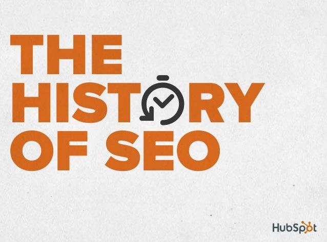 The History of SEO Slide 1