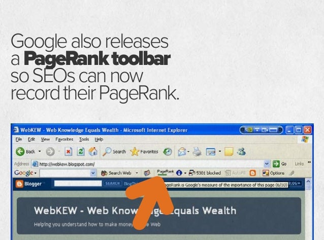 GOOGLE'S PAGERANK TOOLBAR HELPS SEOS FIGURE OUT THE BEST PAGES TO GET LINKS FROM. SEO LINKS