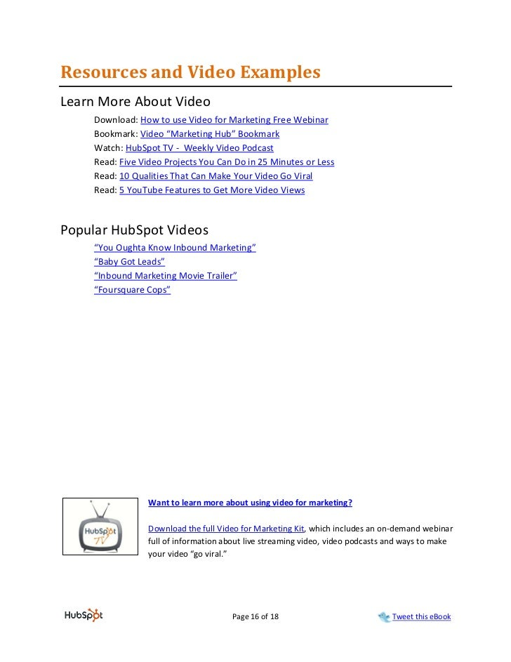 Resources and Video ExamplesLearn More About Video     Download: How to use Video for Marketing Free Webinar     Bookmark:...