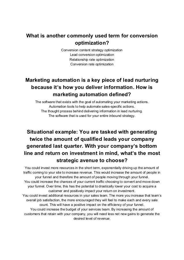 Hubspot Inbound Marketing New Certification Exam Answers Pdf Downlo