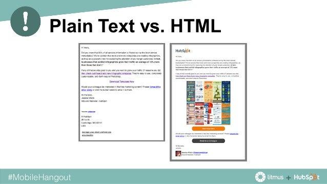 Plain Text vs. HTML