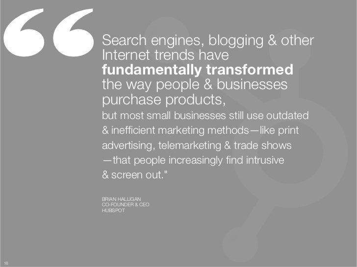 """     Search engines, blogging & other      Internet trends have      fundamentally transformed ""      the way people & bu..."