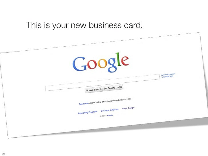 This is your new business card.30