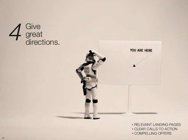 "4   Give ""          great ""          directions.                         •  RELEVANT LANDING PAGES                        ..."