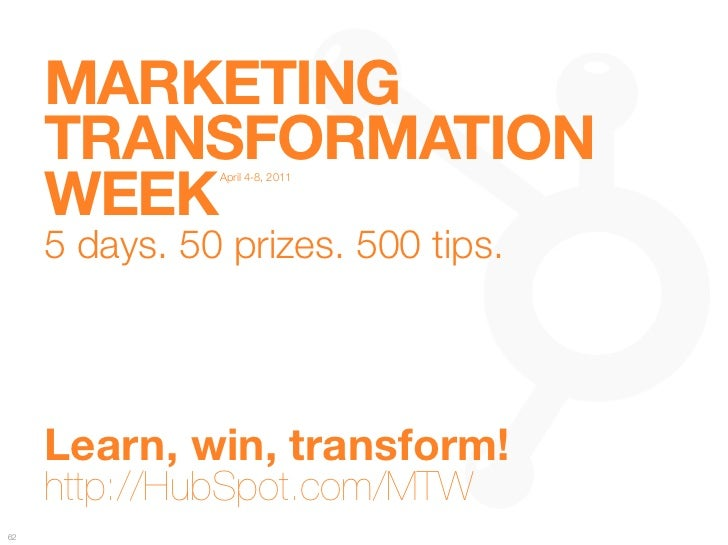 "MARKETING ""      TRANSFORMATION ""      WEEK                 April 4-8, 2011                                               ..."