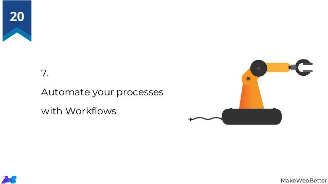 7. Automate your processes with Workflows MakeWebBetter 20