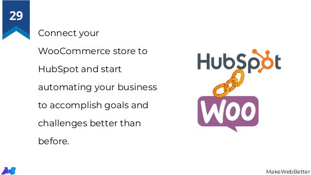 Connect your WooCommerce store to HubSpot and start automating your business to accomplish goals and challenges better tha...