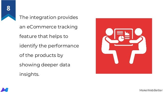 The integration provides an eCommerce tracking feature that helps to identify the performance of the products by showing d...