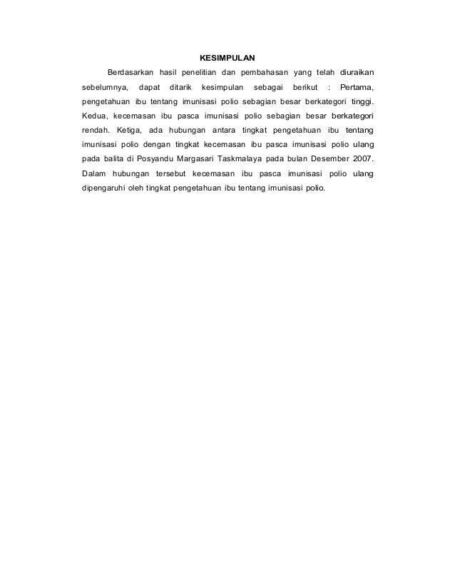 KESIMPULAN Berdasarkan hasil penelitian dan pembahasan yang telah diuraikan sebelumnya, dapat ditarik kesimpulan sebagai b...