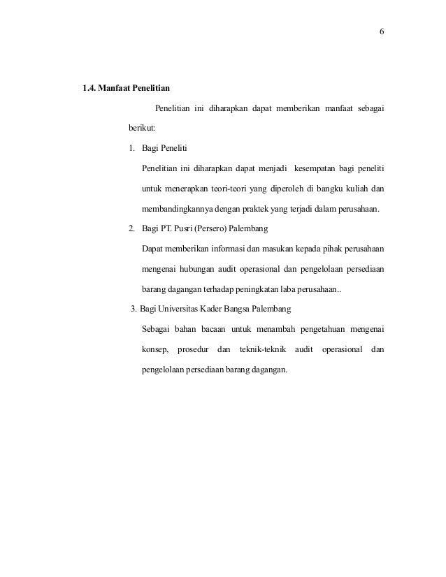 Hubungan Audit Operasional Dan Pengelolaan