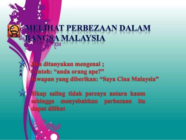 Hubungan etnik - Konsep 1 Malaysia