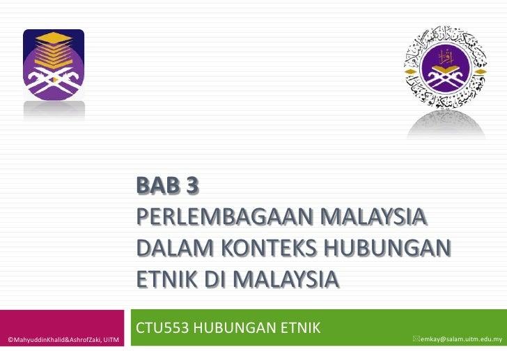 BAB 3                                     PERLEMBAGAAN MALAYSIA                                     DALAM KONTEKS HUBUNGAN...