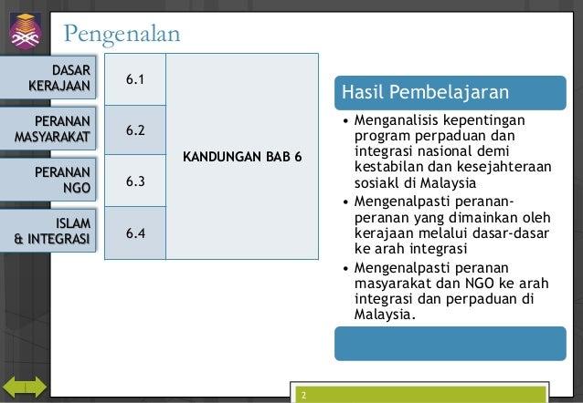 CTU555 Sejarah Malaysia - Hubungan Etnik ke arah Masyarakat Berintegrasi Slide 2