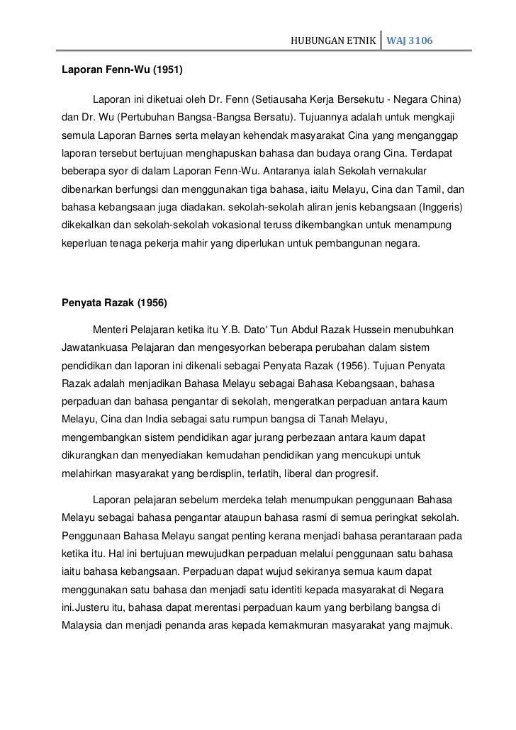 Reflektif Report Hubungan Etnik