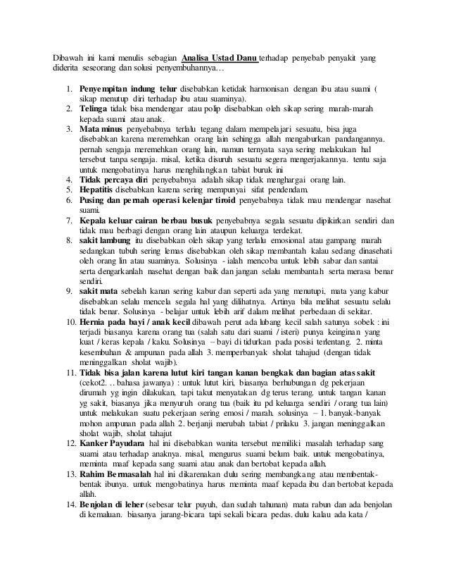 67 Kumpulan Potret Penyakit Ustad Danu Terbaru
