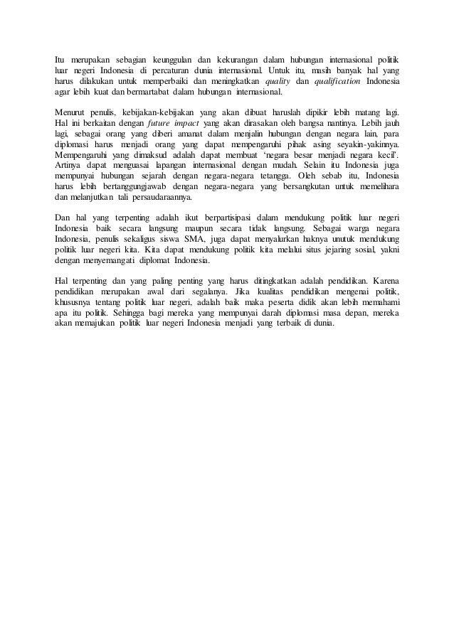 Citaten Politiek Luar : Hubungan politik luar negeri dan indonesia