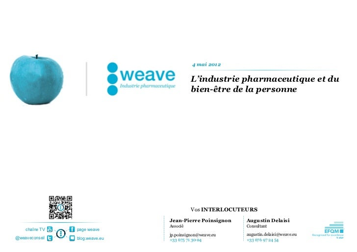 4 mai 2012                                          L'industrie pharmaceutique et du                                      ...