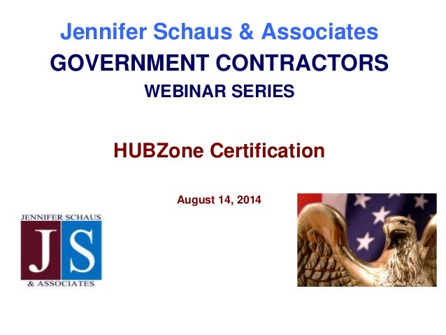 FED GOV CON - HUBZone Certification