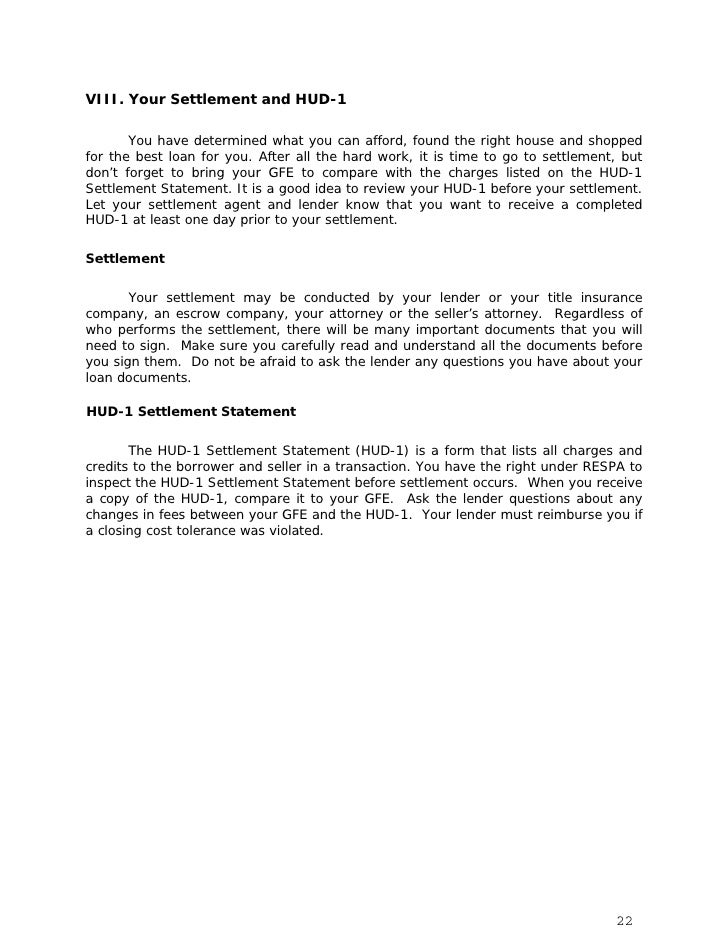 Page 1 of the HUD-1100 – 300 Series, Summary of Borrower's Transactions      The first page of the HUD-1 summarizes all of...