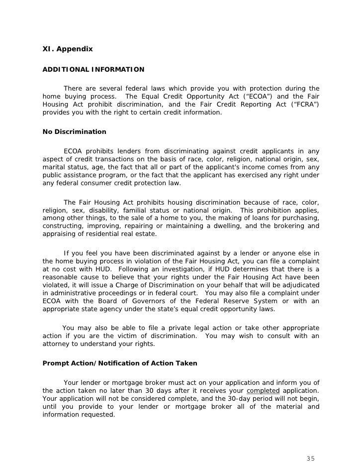 Statement of Reasons for Denial      If your application is denied, ECOA requires your lender or mortgage broker togive yo...