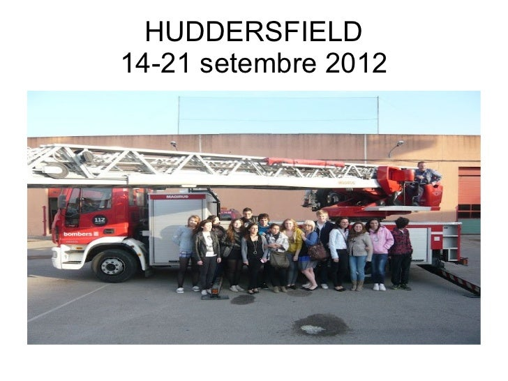 HUDDERSFIELD14-21 setembre 2012