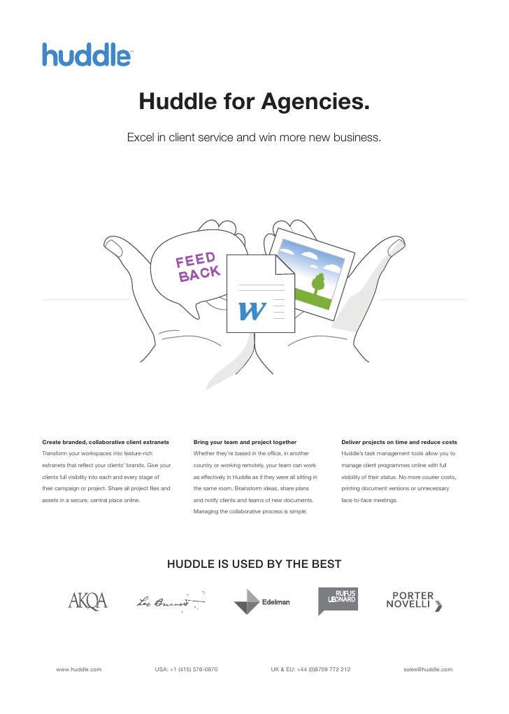™                                           Huddle for Agencies.                                     Excel in client servi...