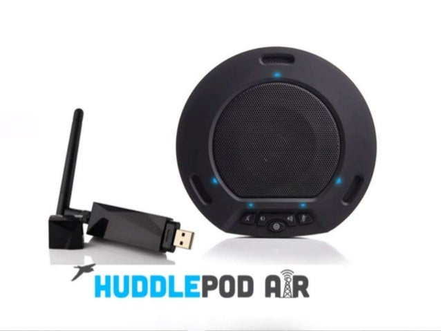 Introducing the HuddlePod™ Air Wireless USB Speakerphone From HuddleCamHD