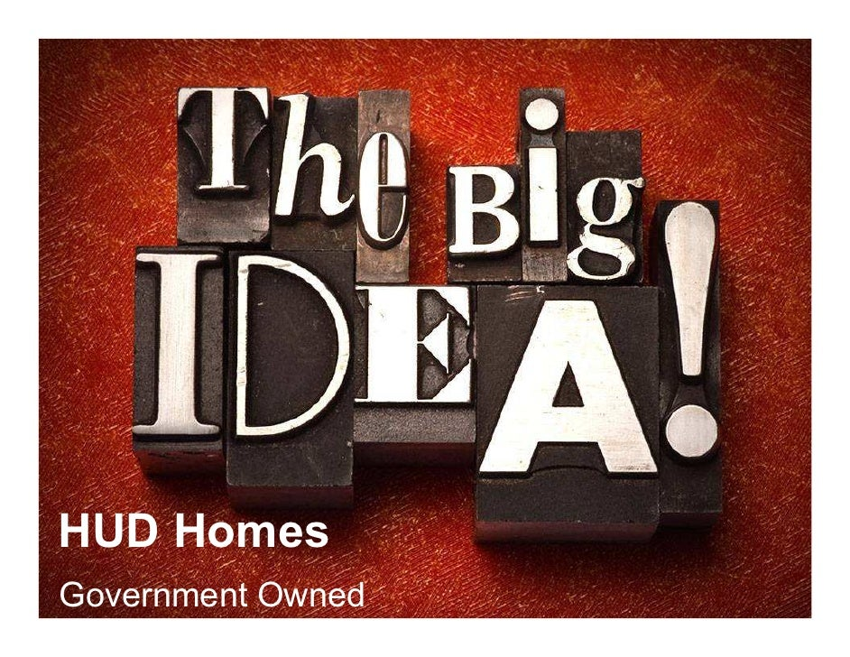 HUD HomesGovernment Owned