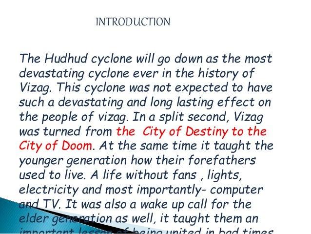 essay on cyclone hudhud