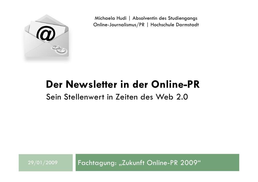 Michaela Hudi | Absolventin des Studiengangs                   Online-Journalismus/PR | Hochschule Darmstadt           Der...