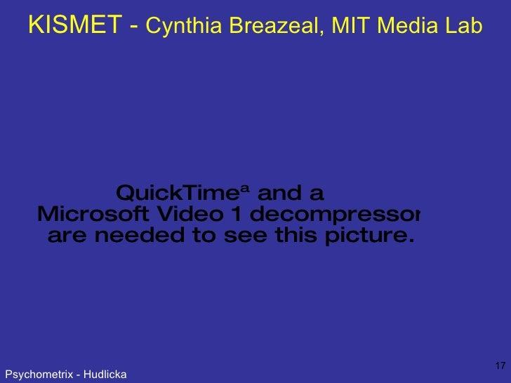 KISMET -  Cynthia Breazeal, MIT Media Lab